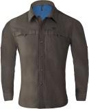 Wildcraft Men's Solid Casual Brown Shirt