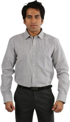 Desar Rana Men's Checkered Formal Purple, Light Green Shirt