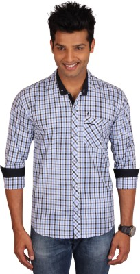 E-Color Mens Checkered Casual Multicolor Shirt