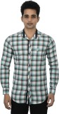 Jim Scott Men's Checkered Casual Light G...