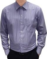 S mark Formal Shirts (Men's) - S Mark Men's Striped Formal Purple Shirt