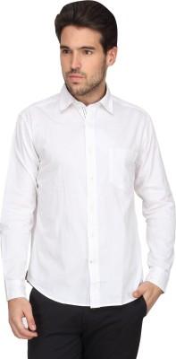 Denimlab Men's Solid Casual White Shirt