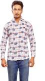 Trinath Men's Self Design Formal White S...