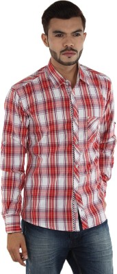 MXX Sports Men's Checkered Casual Red, White Shirt