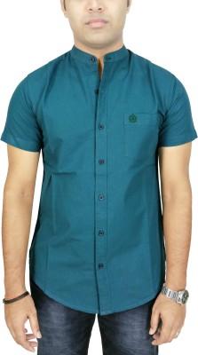 Southbay Men's Solid Formal Linen Blue Shirt