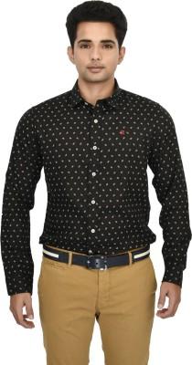 Hackensack Men's Printed Casual Black Shirt