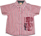 Sunbright Boys Printed Casual Red Shirt