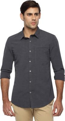 Marc N, Park Men's Solid Casual Grey Shirt
