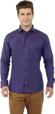 Lewis Marker Men's Solid Formal Purple Shirt