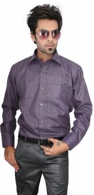 Culture Plus Men's Solid Formal Purple Shirt