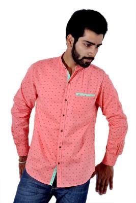 Tenor Men's Printed Casual Pink Shirt
