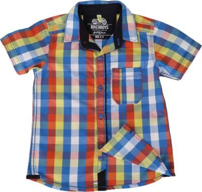 Biker Boys Boy's Checkered Casual Multicolor, Blue Shirt