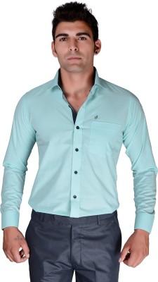 BlackLilly Men's Solid Casual Light Blue, Black Shirt