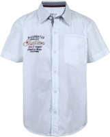 Gini & Jony Baby Boys Solid Casual White Shirt best price on Flipkart @ Rs. 599