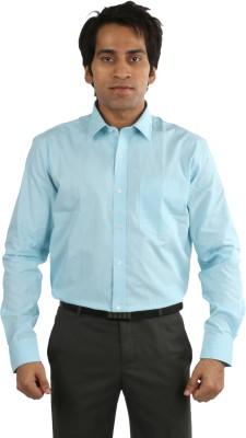 Desar Rana Men's Checkered Formal Light Blue Shirt