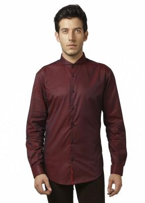 Karsci Men's Solid Lounge Wear Maroon Shirt