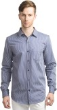 Scotchtree Men's Striped Casual Blue Shi...