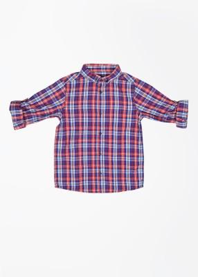 Mothercare Boy's Checkered Casual Blue Shirt