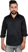 Wardtrobe Formal Shirts (Men's) - Wardtrobe Men's Solid Formal Black Shirt