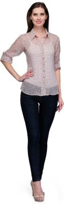 7 Soft Colors Women's Floral Print Casual Multicolor Shirt