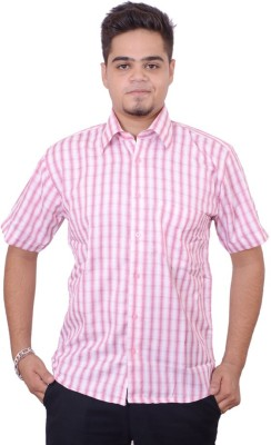 Side Effects Men's Checkered Casual Pink Shirt