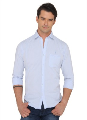 Donear NXG Men's Solid Casual Blue Shirt