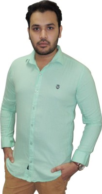 Ali Darzi Men's Solid Casual Light Green Shirt