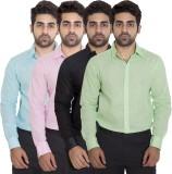 Deekshavastra Men's Solid Casual Pink Sh...