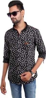 Beyond Imagination Men's Printed Casual Black Shirt