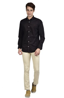 Zid Clothing Men's Solid Casual Black Shirt