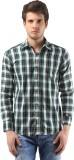Orizzonti Men's Checkered Casual Dark Gr...