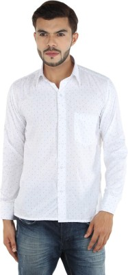FDS Men,s Self Design Casual White Shirt