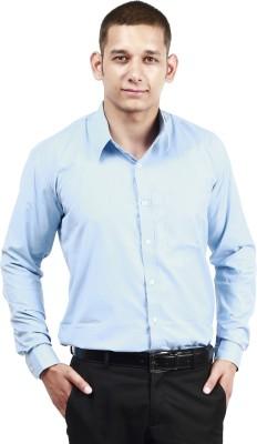 Trendster Men's Solid Formal Blue Shirt