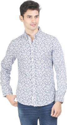 Flippd Men's Printed Casual Dark Blue Shirt