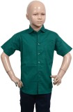 Puppet Nx Boys Solid Casual Green Shirt