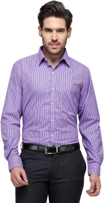 Copperline Men's Checkered Casual Purple Shirt