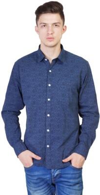 Seaboard Men's Printed Casual Black Shirt