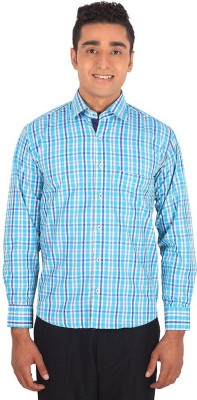 Henry Spark Men's Checkered Casual Blue Shirt