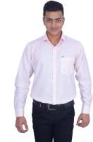 Binani Formal Shirts (Men's) - Binani Men's Solid Formal Orange, White Shirt