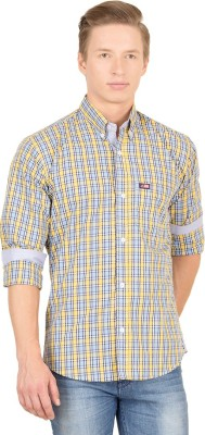 Union Street Men's Checkered Casual Yellow, Blue Shirt