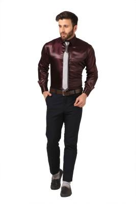Mesh Men's Solid Casual Grey Shirt