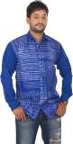 Modo Vivendi Men's Printed Casual Blue S...