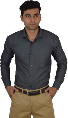 Studio Nexx Men's Printed, Solid Formal Grey Shirt