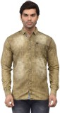 Ranger Men's Solid Casual Brown Shirt