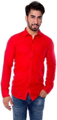 Choice4U Men's Solid Casual Reversible Red Shirt