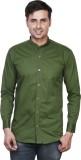 EL FIGO Men's Solid Casual Light Green S...