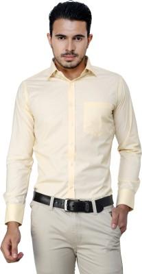 American Cult Men's Solid Formal Reversible Silver Shirt