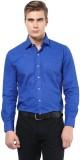 The Vanca Men's Solid Formal Blue Shirt