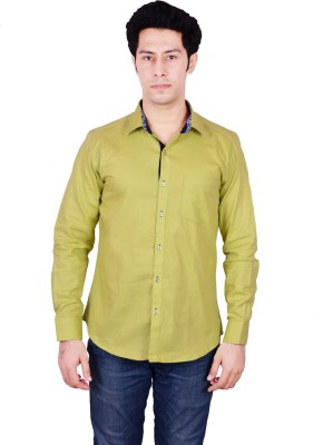 Timberlake Men's Solid Casual Yellow Shirt
