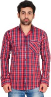 Lime Men's Wear - Lime Time Men's Checkered Casual Red Shirt